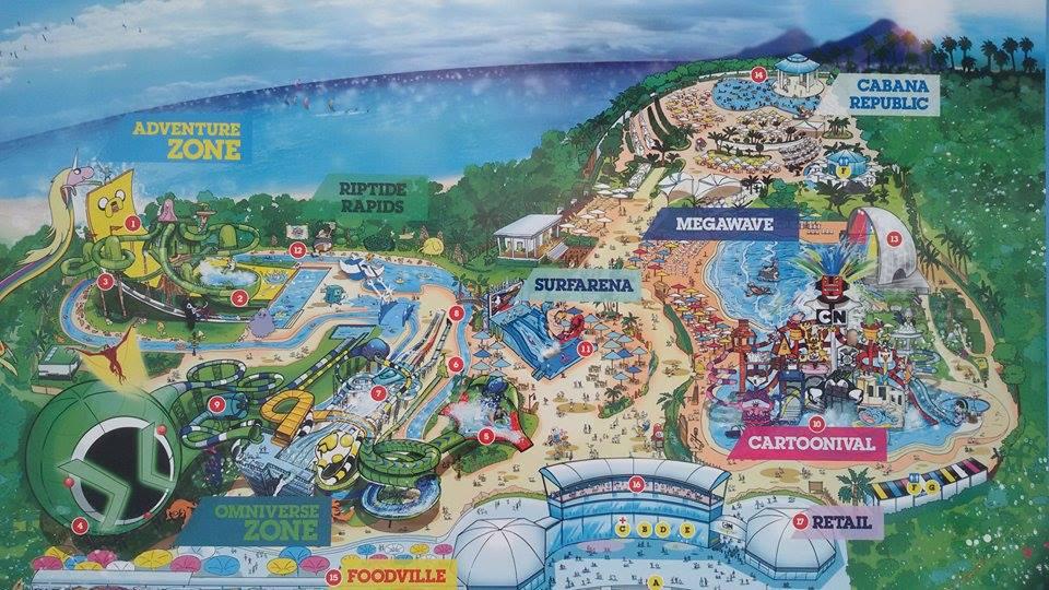 Схема аквапарка Картун в Паттайе