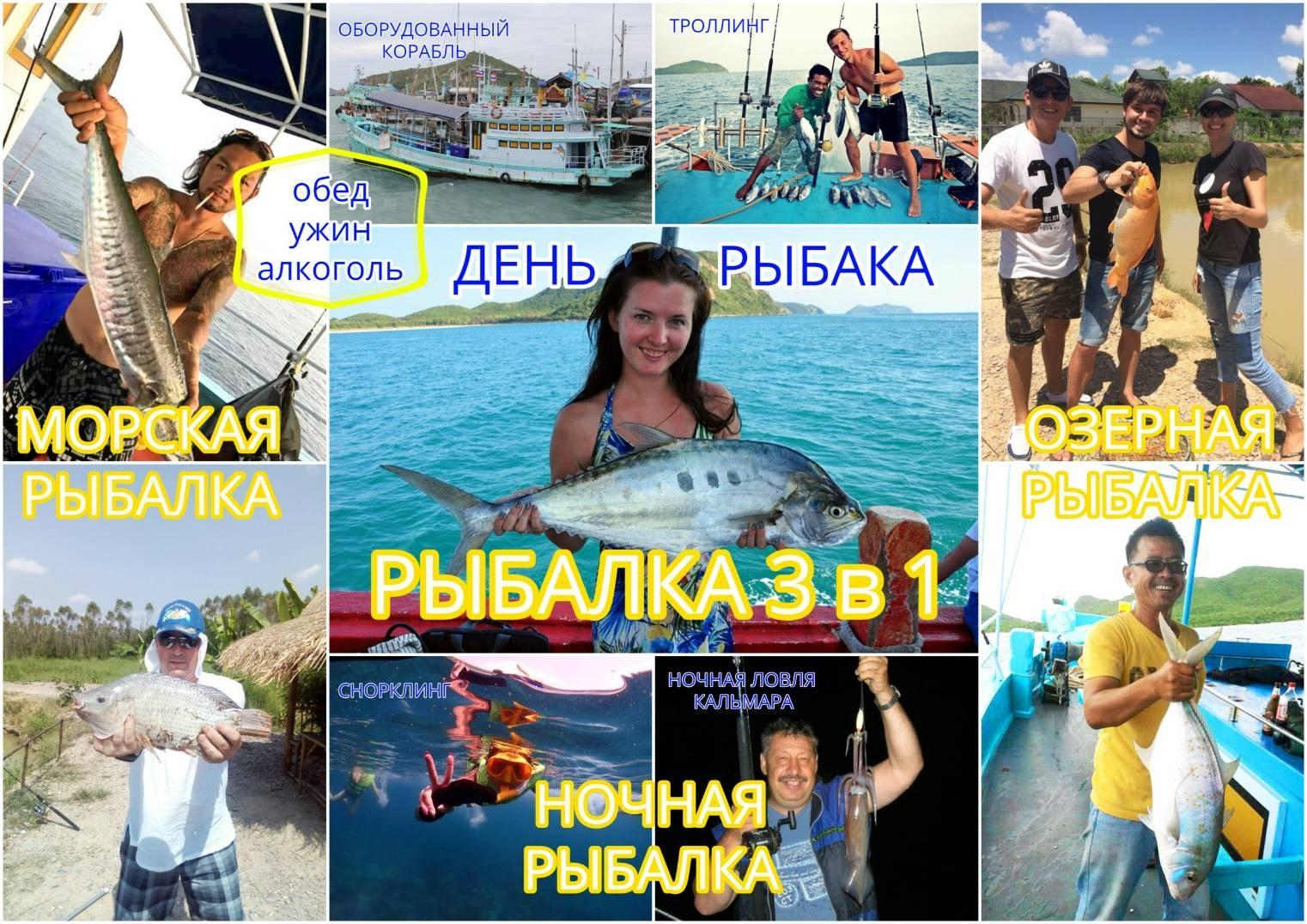 Рыбалка 3 в 1 в паттайе