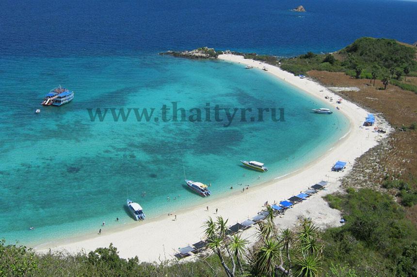 Вид на главный пляж острова Ко Рин